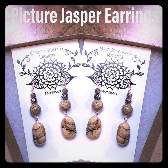 Picture Jasper Earrings II